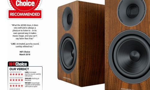 "ACOUSTIC ENERGY AE 300 – Hifi Choice ""Recommended"""