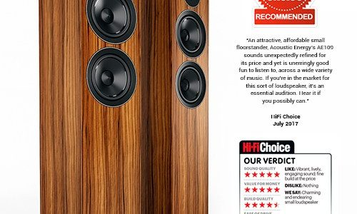 "ACOUSTIC ENERGY AE 109 – Hifi Choice ""Recommended"""