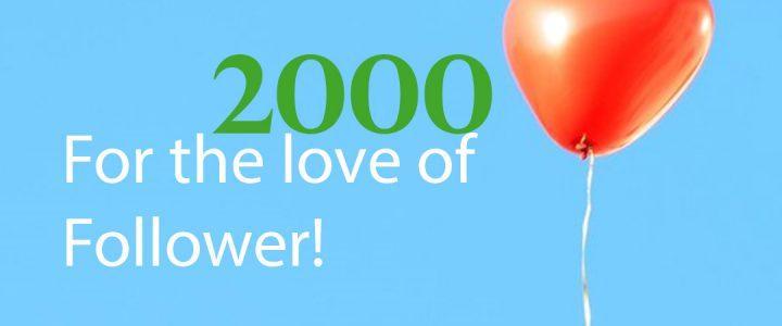 2000 Follower auf Instagram
