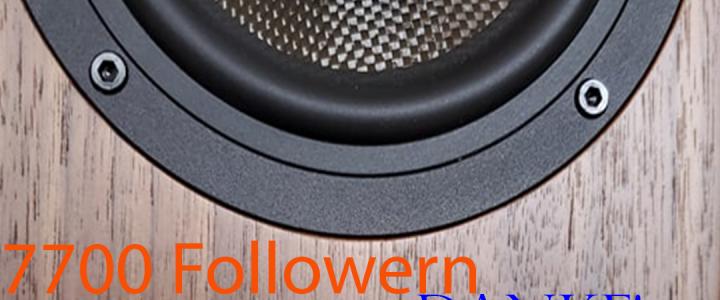 7700 Follower auf Instagram