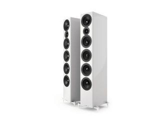 Top Standlautsprecher Acoustic Energy AE 520 Hochglanz Weiß ohne Abdeckung