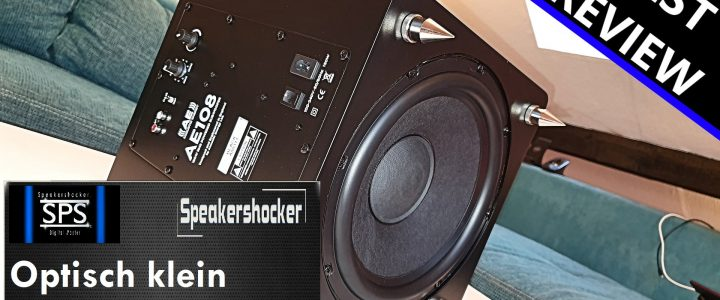 "ACOUSTIC ENERGY Subwoofer AE 108² bei Speakershocker ""Optisch klein BASS umso fetter"""
